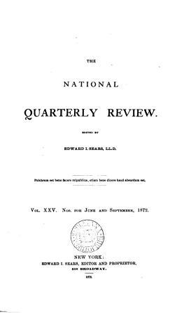 The National quarterly review  ed  by E I  Sears PDF