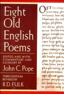 Eight Old English Poems PDF