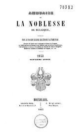 Annuaire de la noblesse de Belgique: Volume7