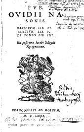 Fastorum libri VI. Tristium libri V. De Ponto libri IV. ex postrema Jacobi Micylli recognitione