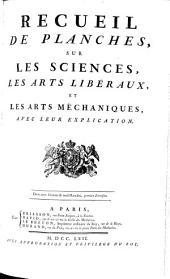 RECUEIL DE PLANCHES, SUR LES SCIENCES, LES ARTS LIBÉRAUX, ET LES ARTS MÉCHANIQUES, AVEC LEUR EXPLICATION: Volume22
