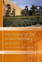 The People of the Cobra Province in Egypt PDF