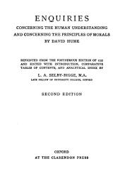 Enquiries Concerning the Human Understanding and Concerning the Principles of Morals: Volume 921