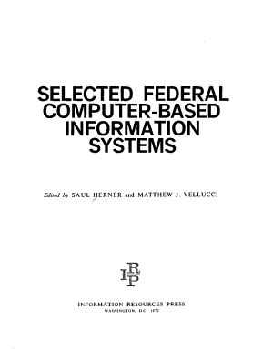 Selected Federal Computer based Information Systems PDF