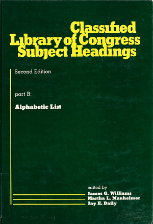 Classified Library of Congress subject headings PDF