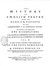 The History of English Poetry, from the Close of the Eleventh to the Commencement of the Eighteenth Century: Volume 3