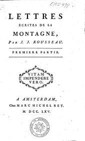 Lettres écrites de la montagne: Page1