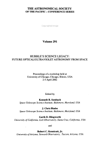 Hubble s Science Legacy