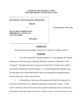 Black Box Corporation, Frederick C. Young, and Anna M. Baird: Securities and Exchange Commission Litigation Complaint