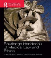Routledge Handbook of Medical Law and Ethics PDF