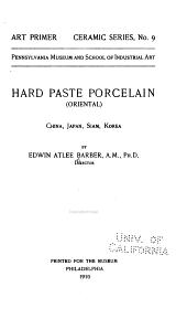 Hard Paste Porcelain ...