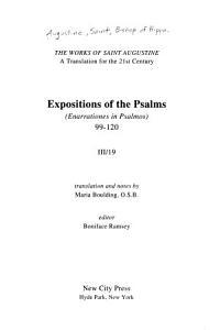 The Works of Saint Augustine PDF
