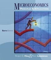 Microeconomics: Principles and Applications: Edition 6