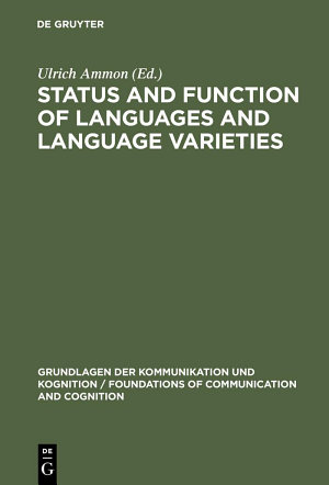 Status and Function of Languages and Language Varieties