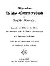 Allgemeines reichs-Commersbuch für deutsche Studenten