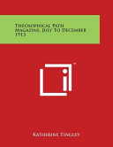 Theosophical Path Magazine, July to December 1913