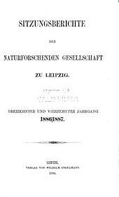 Sitzungsberichte: Bände 13-16