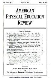 American Physical Education Review: Volume 23
