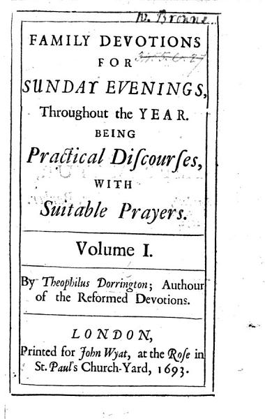 Download Family Devotions for Sunday Evenings throughout the year  being practical discourses with suitable prayers Book
