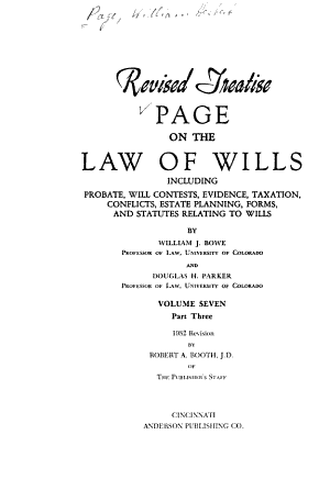 Page on the Law of Wills PDF