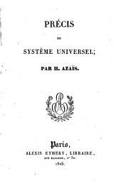 Précis du système universel