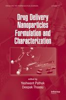 Drug Delivery Nanoparticles Formulation and Characterization PDF