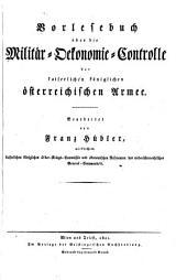 Vorlesebuch über die Militär-Oekonomie-Controlle der k.k. österreichischen Armee