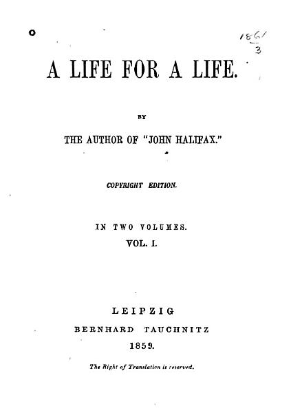 Download A Life for a Life Book