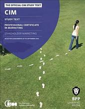 CIM 4 Stakeholder Marketing 2012