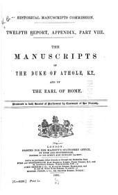 Report of the Royal Commission on Historical Manuscripts: Issue 12, Part 8