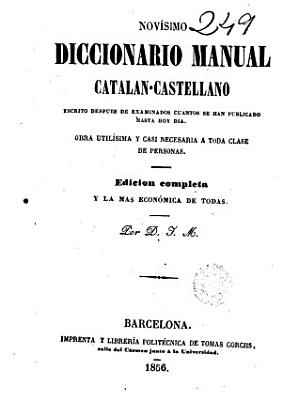 Nov  simo diccionario manual catalan castellano PDF