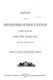 Report of the Minister of Education