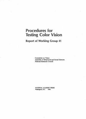 Procedures for Testing Color Vision