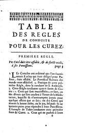 Règles de conduite pour les curez tirées de Saint Jean Chrysostome, et Méthode enseignée