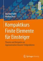 Kompaktkurs Finite Elemente f  r Einsteiger PDF