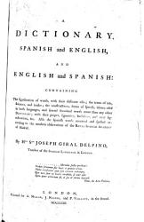 A Dictionary Spanish And English And English And Spanish Book PDF