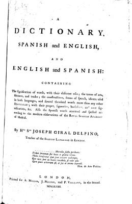 A dictionary  Spanish and English  and English and Spanish PDF