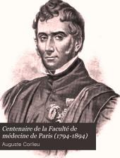 Centenaire de la Faculté de médecine de Paris (1794-1894)