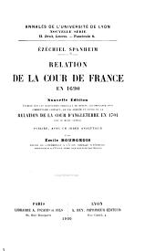 Relation de la cour de France en 1690