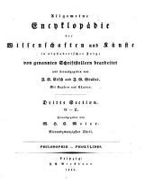 Allgemeine Encyklopädie der Wissenschaften und Künste: in alphabetischer Folge. ¬Section ¬3, O - Z ; Theil 24, Philosophie - Phokylides. 3,24