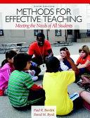 Methods for Effective Teaching PDF
