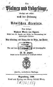 Sämmtliche Werke: ¬Abth. ¬1, Ascetische Werke ; Sect. 2 ; 5, ¬Die Psalmen und Lobgesänge, übersetzt und erklärt nach der Ordnung des Römischen Breviers, Band 1,Ausgabe 2,Teil 5