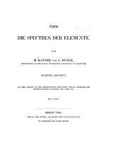 Über die Spectren der Elemente: Band 6