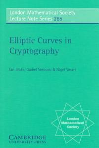 Elliptic Curves in Cryptography PDF