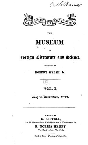 The Museum of Foreign Literature  Science  and Art