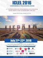 2nd International Conference on Lifelong Education and Leadership for ALL ICLEL 2016 PDF