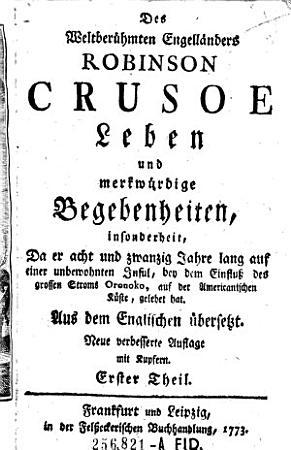 Des    weltber  hmten Engell  nders Robinson Crusoe Leben und merkw  rdige Begebenheiten     PDF