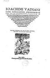 Aphorismorum libri sex: de consideratione eucharistiae, de sententiis super hac re contraversis, de sacramentis antiquis et novis, deque verbo symbolis et rebus, (etc.)