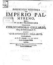 Diss. hist. de imperio Palmyreno