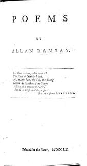 Poems by Allan Ramsay. With a portrait